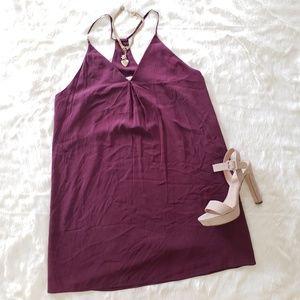 Alice +olivia  stretch silk slip dress L